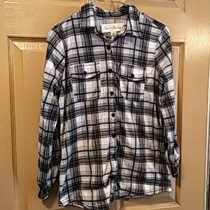 French Laundry womens flannel shirt S